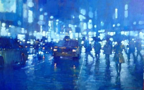 Manyung Gallery Group David  Hinchliffe Blue Traffic