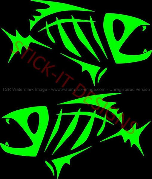 HUGE G Loomis Fish Skeleton Boat Decal Set of 2: http://stickyaddiction.com/products/huge-g-loomis-fish-skeleton-boat-decal-set-of-2 #GLoomis #Fishing #StickyAddiction #Boat