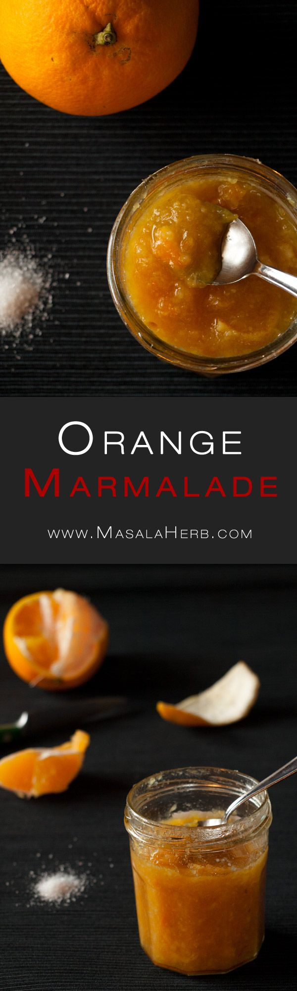 Orange Marmalade Recipe - How to make orange marmalade www.MasalaHerb.com #french #Recipe #masalaherb #jam