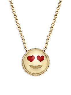 Roberto Coin – 18K Yellow Gold Love Emoji Pendant …