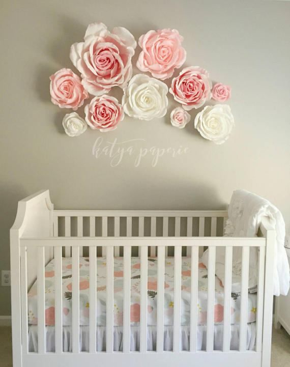 Nursery Wall Paper Flowers Paper Flower Wall Display
