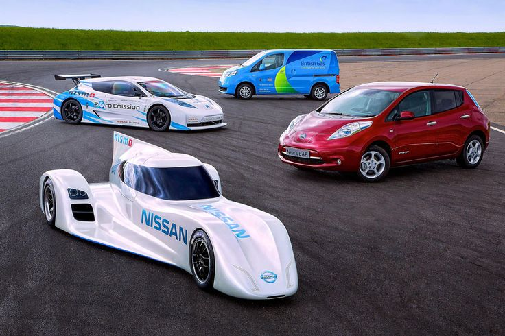 Nissan's Electric Cars, ZEOD RC, LEAF, LEAF RC, and the e-NV200.