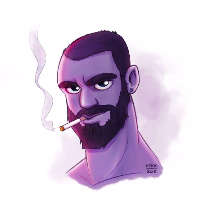 Smoking @homographica | The art of Mark Poulin
