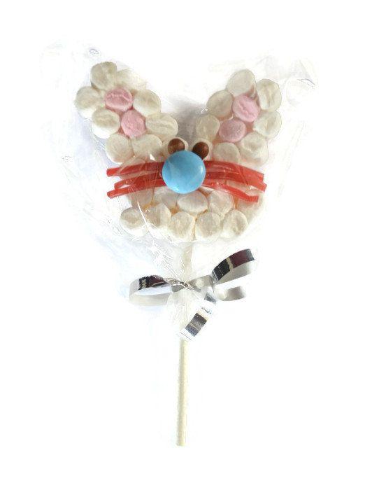 Marshmallow Rabbit Lollipop by HelensDessertCart on Etsy