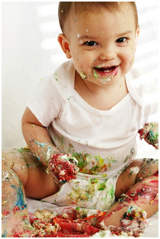 Birthday cake mess love it
