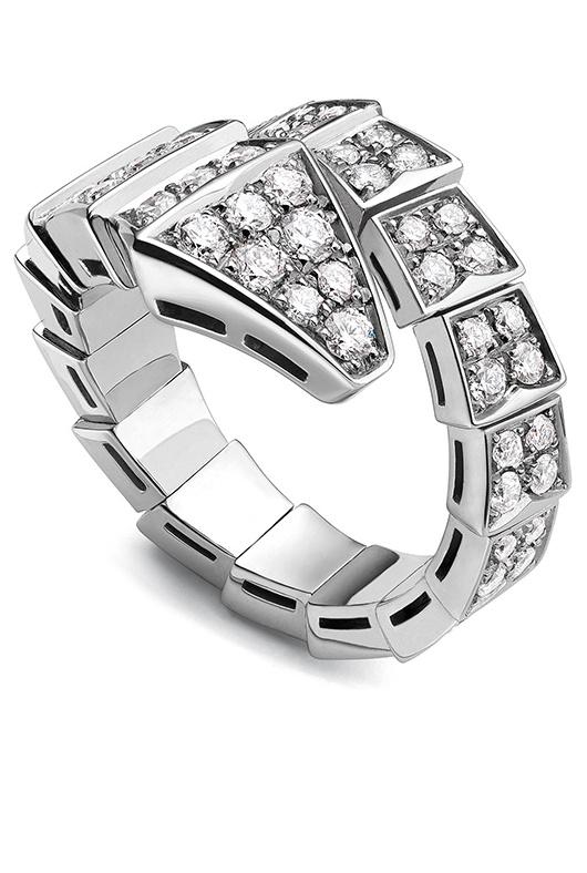 bvlgari white gold and diamond serpenti ring at london jewelers