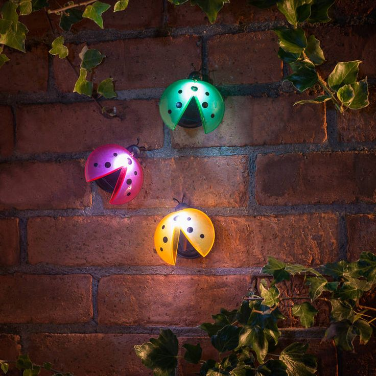 Ladybird fence wall lights perfect for brightening up your garden fence or wall