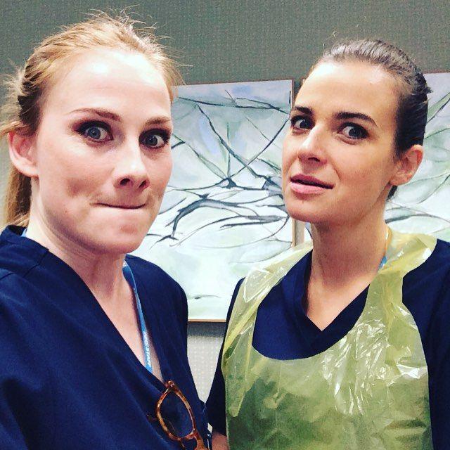 Rosie Marcel and Camilla Arfwedson <3