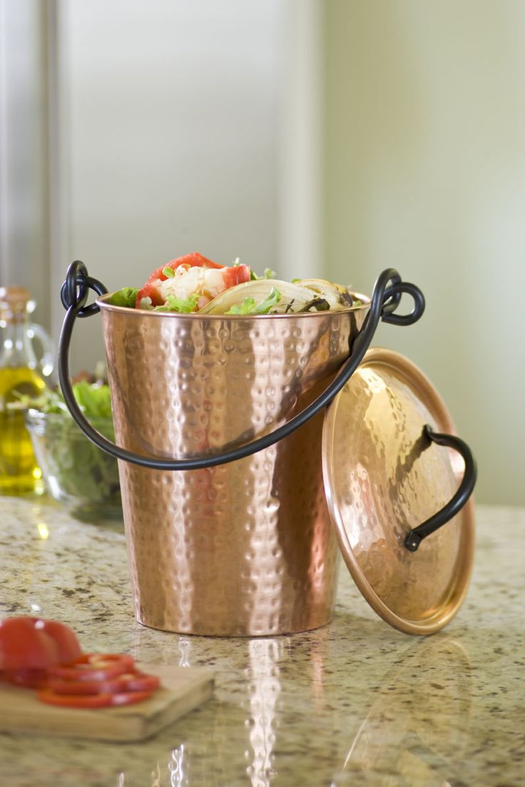copper compost pail buy from supply
