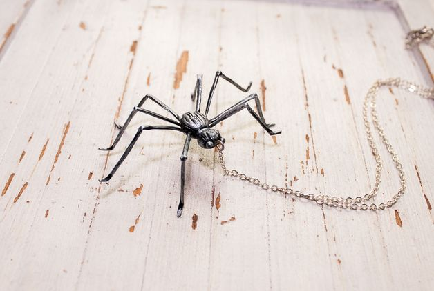 via en.dawanda.com Medium Necklaces – spider necklace , spider handmade by polymer clay – a unique product by Joyloveclay on DaWanda