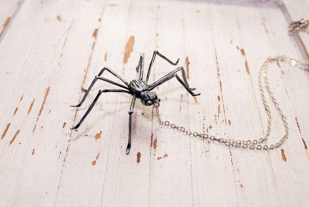 via en.dawanda.com Medium Necklaces – spider necklace , spider handmade by polymer clay – a unique product by Joyloveclay on DaWanda