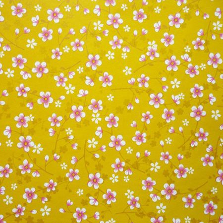 Pip Studio tapetti Cherry Blossom nro 313020 keltainen