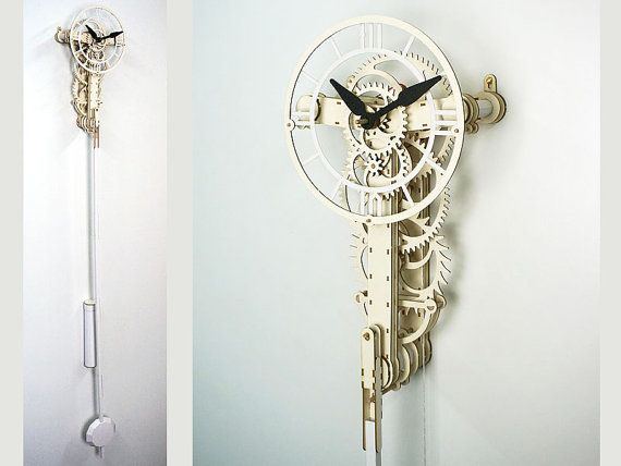 UNDECIMUS a paper and cardboard clock kit. by WOODENTIMES on Etsy