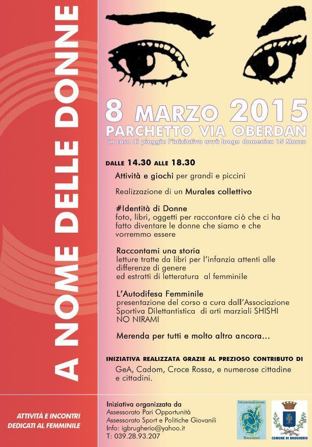 COMITATO DI QUARTIERE S.ALBINO (MONZA): BRUGHERIO: A NOME DELLE DONNE