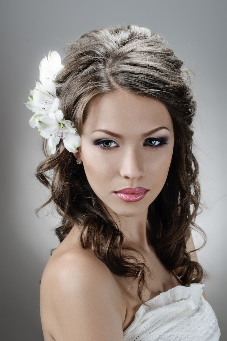 52 best wedding hair images on pinterest | hairstyles, half up