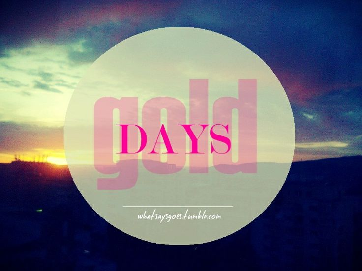 gold days / sunrise
