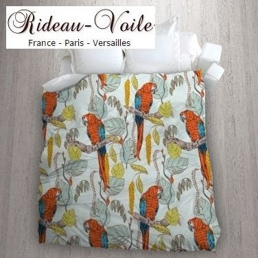 Tissu Au Metre Motif Exotique Tropical Oiseaux Housse De Couette