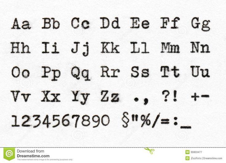 alfabeto macchina da scrivere