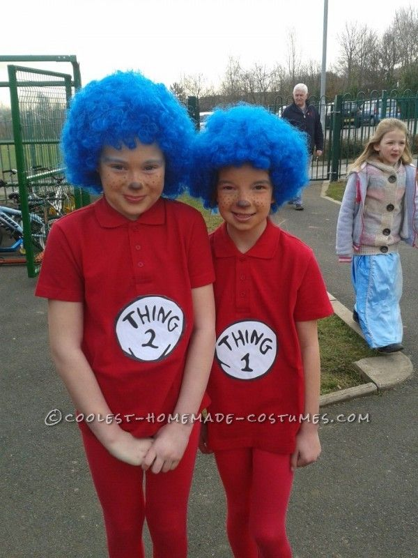 last minute thing 1 and thing 2 costumes for uk world book day - World Best Halloween Costumes