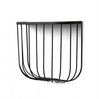 FUWL Cage shelf - black-dark ash - Menu