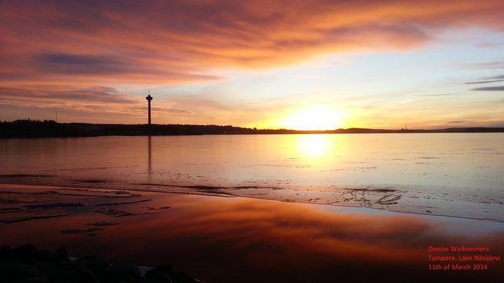 Sunset over Näsijärvi, March 2014