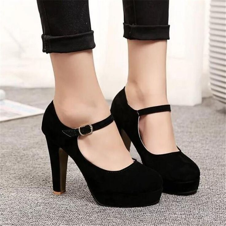 New Sexy High Heels Rounded Suede Comfortable