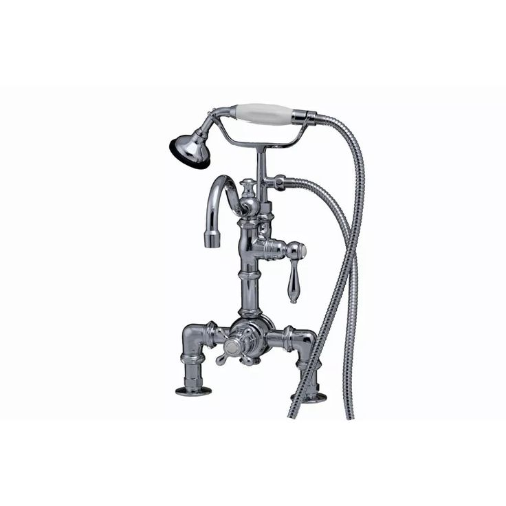 Strom Plumbing Thermostatic Clawfoot Tub Faucet with Hand Shower