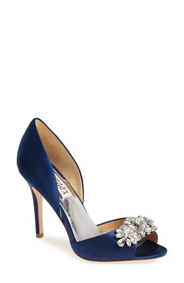 Badgley Mischka 'Giana' Satin d'Orsay Pump (Women) available at #Nordstrom @kaaaaye wedding shoes??