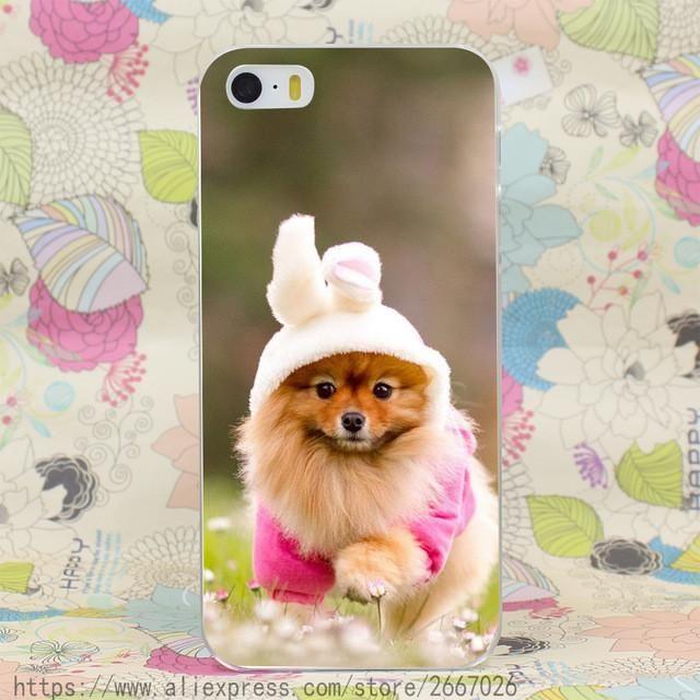 Pomeranian Hard Transparent Cover Case for iPhone 7 7 Plus 6 6S Plus 5 5S SE 5C 4 4S