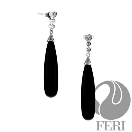 Black Onyx Dangle - Earrings $ 330.00