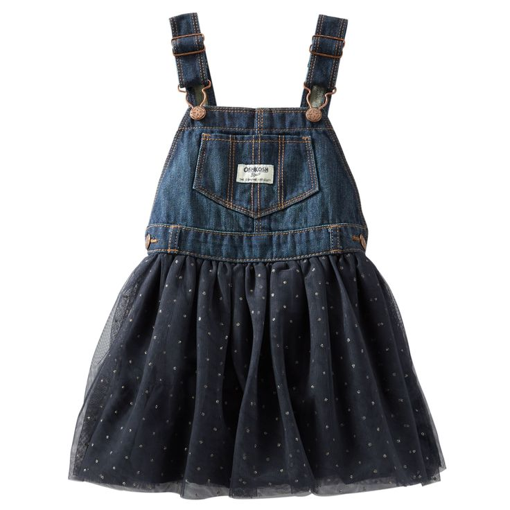 Toddler Girl Denim & Tulle Tutu Jumperall | OshKosh.com
