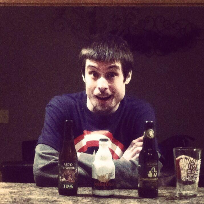 Beer makes me a happy boy!