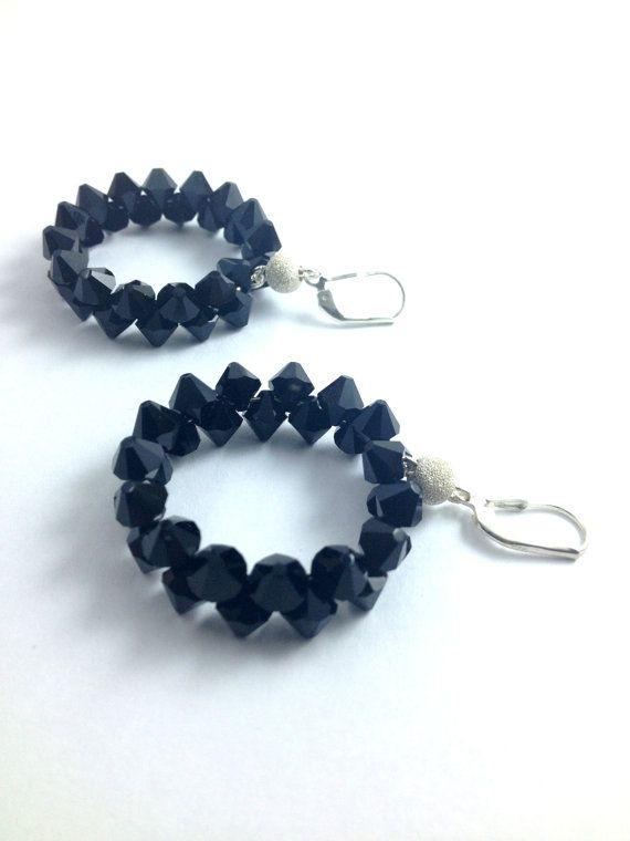 new in stock!!! get it before its gone! swarovski crystal hoop earrings only 40.00$