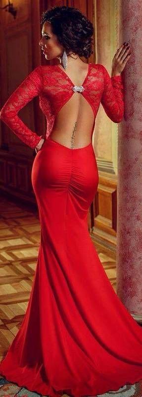 tenue saint valentin avec attaches dos sexy et glamour dentelle rouge robe elegant lady and. Black Bedroom Furniture Sets. Home Design Ideas