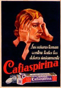 Cárteles antiguos de publicidad- Cafiaspirina 1970