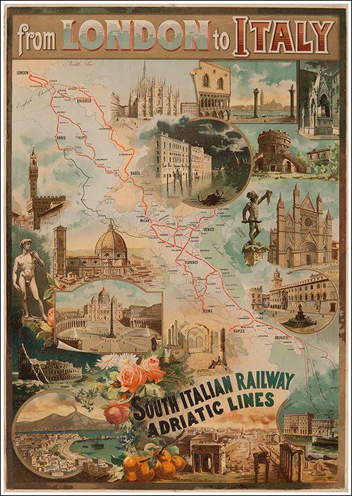 London to Italy - South Italian Railways - Adriatic Lines - 1895.