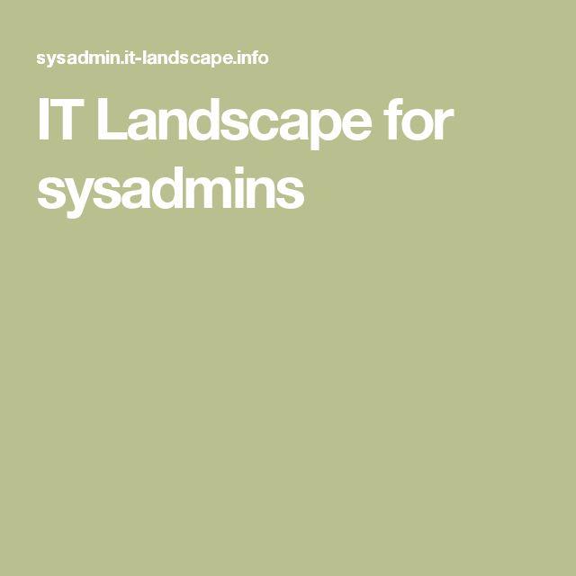 IT Landscape for sysadmins