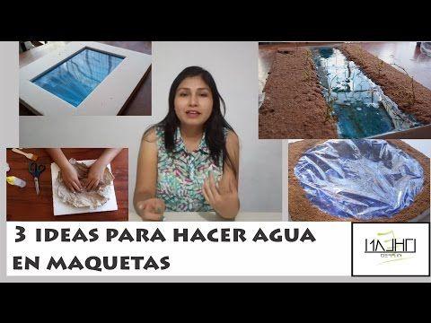 3 IDEAS PARA HACER AGUA EN MAQUETAS|#TRAZOS DE ENSUEÑO - YouTube