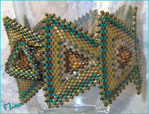 Bracelet triangles verts