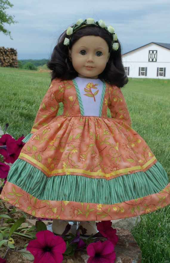 American Girl Mid 1800s Savannah Rose Gown/ Clothes for Marie Grace, Cecile or Caroline $68