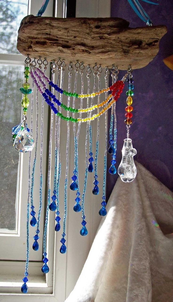 Rainbow Goddess - Iris - Altar on the Wind, OOAK Pagan Decor