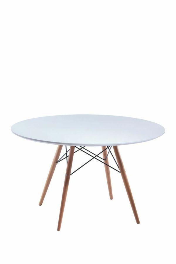 esszimmertische mit stühlen runder weißer tisch