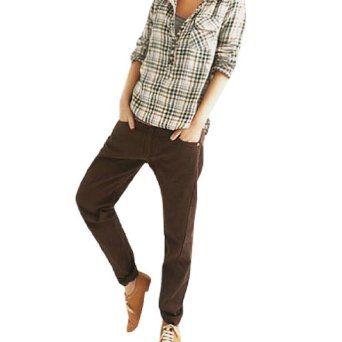 Allegra K Women 5 Pockets Zip Fly Long Harem Trousers Dark Brown M Allegra K. $14.12