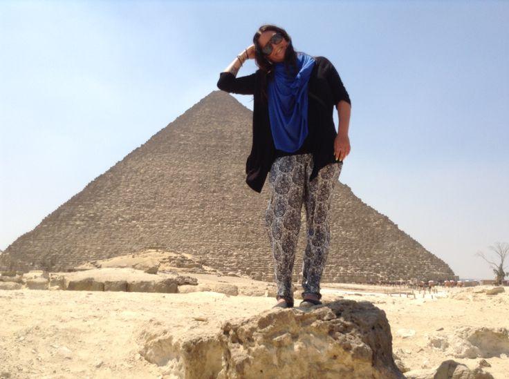The most touristic photo ever, pyramids of Giza, Cairo, Egypt