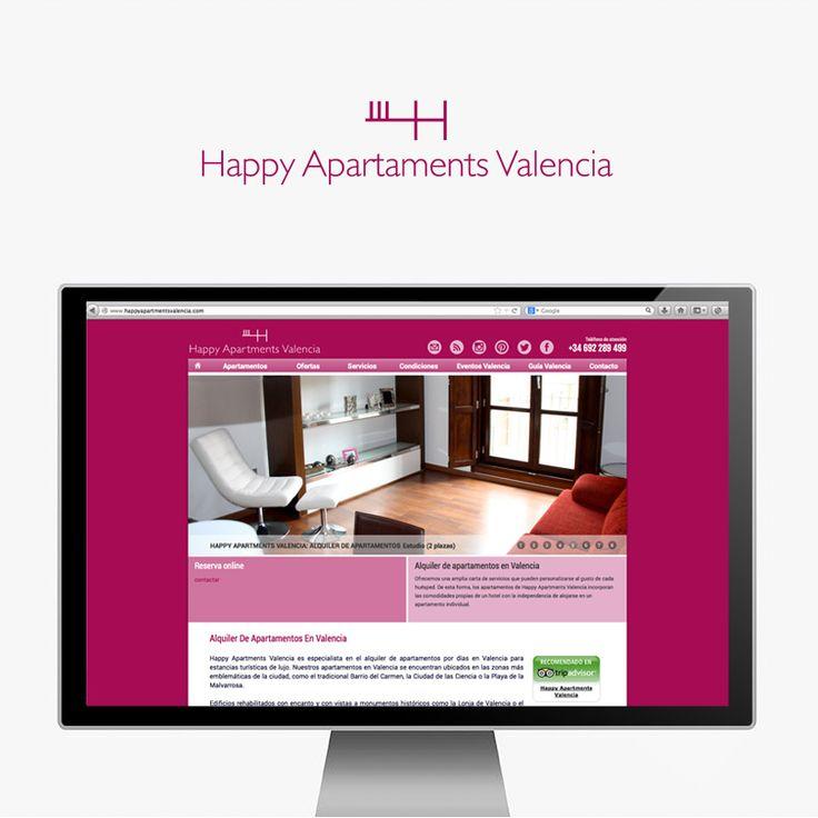 Webdesign y proyecto de branding para www.happyapartments.com