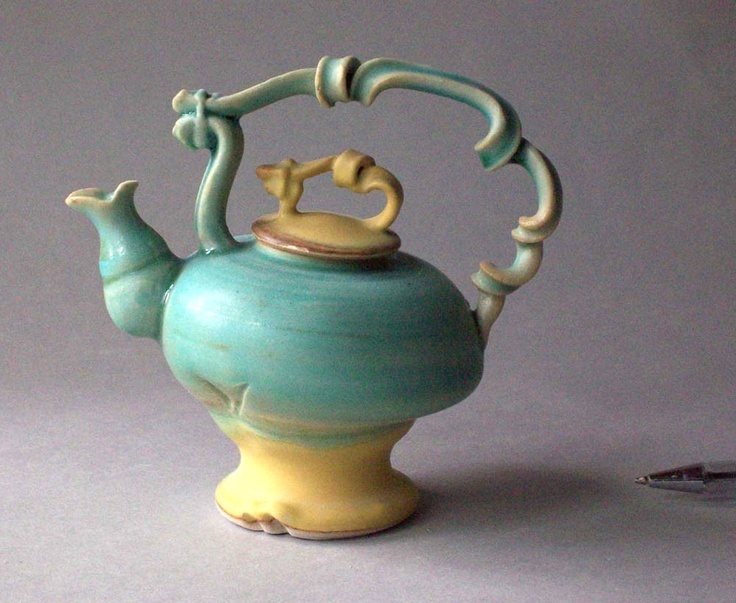 Miniature teapot Blue
