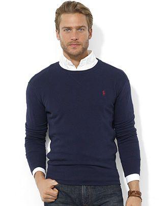 Polo Ralph Lauren Sweatshirt, Crew Neck Fleece Pullover - Sweaters - Men - Macy's