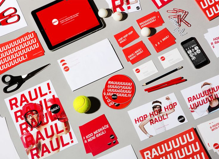 Raul advertising agency - Corporate visual identity by Dynamo design, photo of printed realization by w:u studio