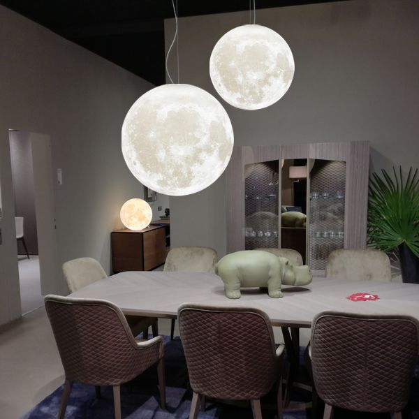 Zeegine 3d Printed Moon Pendant Light Moon Pendant Light 3d Led Night Light Moon Light Lamp