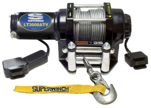 ATV Winches - Superwinch 1130220 LT3000ATV 12 VDC winch 3,000lbs/1360kg with roller fairlead, mount plate, handlebar rocker switch, and handheld remote